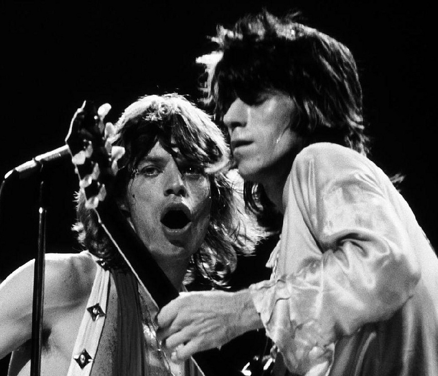 Keith Richards e Mick Jagger ao vivo
