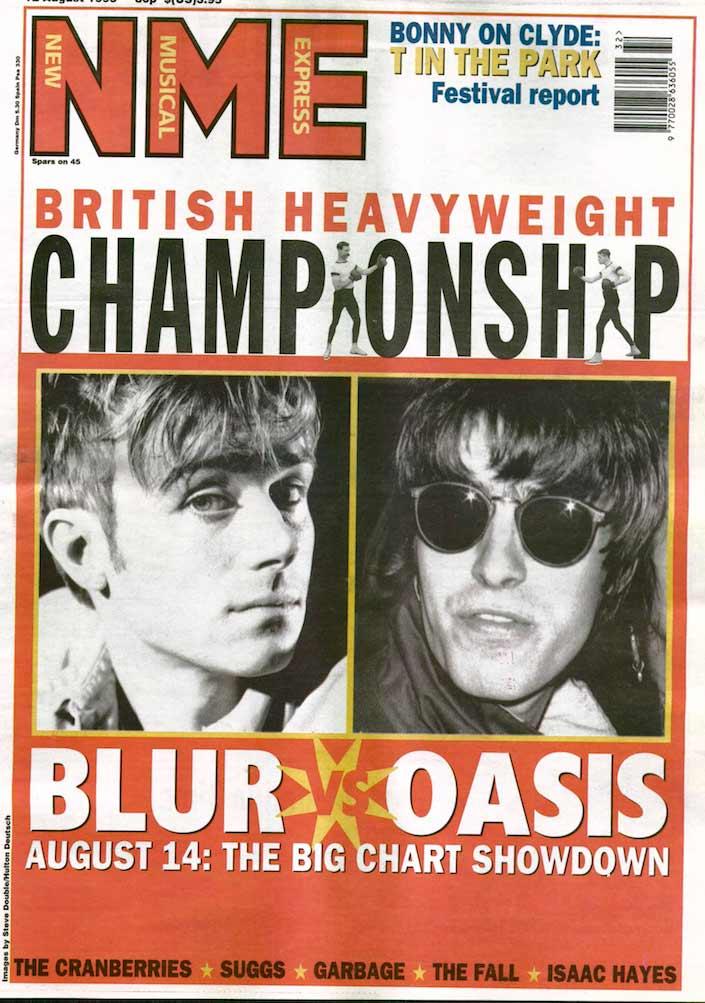 Blur vs Oasis na NME